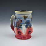 Magical Flowers & Bees Beer Stein - 14 ounces