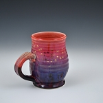 Black, Purple and Red mug with gold ants - 10 ounces