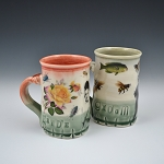 Pair of Wedding mugs  - 10 ounces