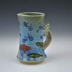 Fish & bicycles mug -  10 ounces