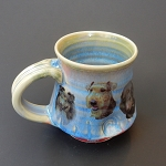 A bunch of dogs on a blue mug - Mug - 10 ounces