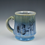 Barfin' & Poopin' on Trump mug - blue - 10 ounces