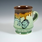 Barfin' and Poopin' on Trump mug - green