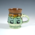 Social Distancing Mug #3 - social distancing with black and brown glaze