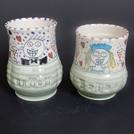 Bride & Groom pair of mugs - ONE OF A KIND SET.
