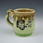 Barfin' & Poopin' on Trump mug (green) - 8 ounces