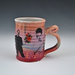 Mr. & Mrs. Frankenstein collage mug - 10 ounces