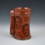 John Hickenlooper iron red beer stein - 16 ounces