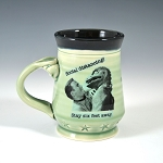 Kirk and Spock's Social Distancing Alert! Mug - green