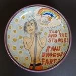 Iggy & The Stooges: RAW UNICORN FARTS - art bowl - ONE OF A KIND.