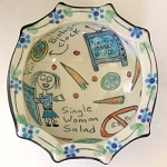 Single Woman Salad bowl - DISCONTINUED/SLIGHTLY FLAWED