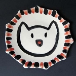 King Cat 8 inch plate by John Porcellino