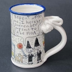 Wally joins a satanic homeowners' association - mug