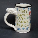 They saved Ayn Rand's brain. - DISCONTINUED - mug