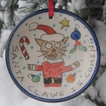 Santa Claws is coming! - ornament