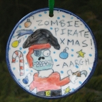 Zombie Pirate Xmas! - ornament