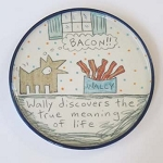 Wally discovers the true meaning of life - salad plate - - OUT OF STOCK, SHIPS ON 9/14/20