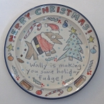 Wally's holiday fudge - salad plate