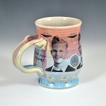 1940s hairdo boy with Oreos and UFOS - ONE OF A KIND - 10 ounce mug