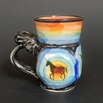 Unicorn & Rainbow art mug #1 - ONE OF A KIND.