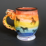 Unicorn & Rainbow art mug #2 - ONE OF A KIND.