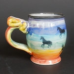Unicorn & Rainbow art mug #3 - ONE OF A KIND.