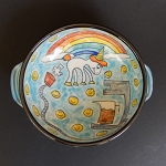 Unicorn farts power my morning coffee - art bowl - ONE OF A KIND.