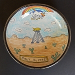 The Unicorn Fart and The First Atomic Bomb - art bowl - ONE OF A KIND.