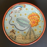 The Cause of The Hindenburg Disaster - art bowl - ONE OF A KIND.