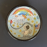One Small Step with The Farting Unicorn! - art bowl - ONE OF A KIND.