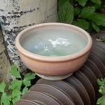 soft pink and green bowl - 5.5 inch diameter