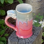 drippy red and green mug - 10 ounces