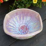 Crazy Drippy Square bowl - 7.5 inch diameter