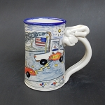Wally's Tesla gets weaponized to fight the coal rollers - mug - OUT OF STOCK - WILL SHIP ON 6/20/20