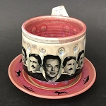 Musk & Tesla cup and saucer set - 8 ounces