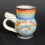 Unicorn & Rainbow art mug #4 - ONE OF A KIND.