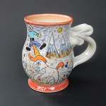Ridiculous Unicorn Folklore art mug - ONE OF A KIND!