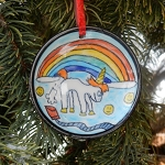 Farting Unicorn Christmas Ornament