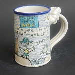 Wally and Jimmy Buffett mug