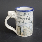 Wally meets Godzilla 2.0 mug