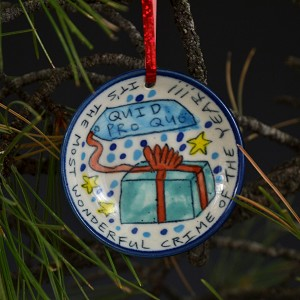 """Most wonderful crime of the year"" Christmas ornament"