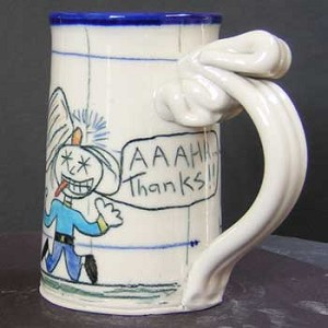 "A ""Random Acts of Kindness"" seminar inspires Wally to beat up a masochist - mug - OUT OF STOCK! SHIPS ON 3/15/20."