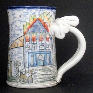 Wally's passive-aggressive solar home - mug