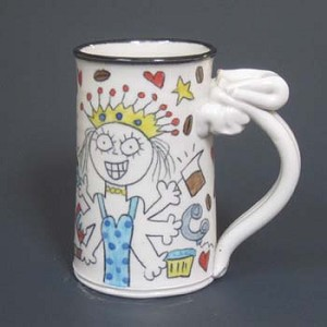 The queen of caffeine - mug