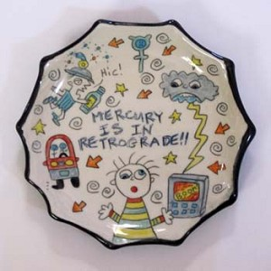 Mercury is in retrograde!! - salad plate - SLIGHTLY FLAWED