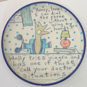 "Wally tries viagra and has one of those ""call your doctor"" situations - salad plate"
