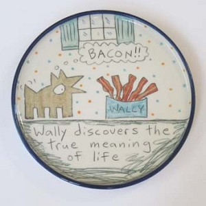 Wally discovers the true meaning of life - salad plate