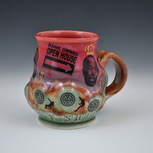 Ben Carson and the REOs - 12 ounce porcelain mug with gold luster decals