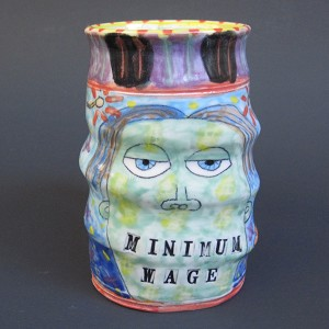 """Minimum Wage"" - TMBG art mug"
