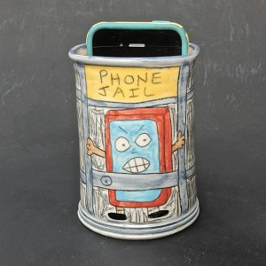 """Phone Jail"" cell phone holder - DISCONTINUED - 2.5 inches wide"